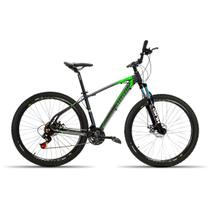 Bicicleta 29 High One 24V Index Freio Disco Susp. Preto com Verde 19