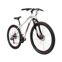 Bicicleta Adulto Caloi Vulcan Aro 29, 21 Marchas, Quadro de Alumínio, Freio a Disco, Branca -