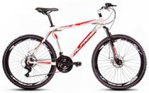 Bicicleta Alfameq Stroll Aro 26 Freio À Disco 21 Marchas Branca Com Vermelho -