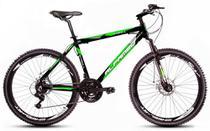 Bicicleta Alfameq Stroll Aro 26 Freio À Disco 21 Marchas Preta Com Verde -