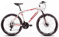 Bicicleta Alfameq Stroll Aro 26 Freio À Disco 24 Marchas Branca Com Vermelho -