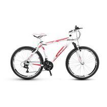 Bicicleta Alfameq Stroll Aro 26 Vbrake 21 Marchas Branca Com Vermelho -