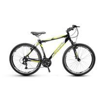 Bicicleta Alfameq Stroll Aro 26 Vbrake 21 Marchas Preta Com Verde -