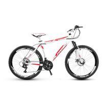 Bicicleta Alfameq Stroll Aro 29 Freio À Disco 21 Marchas Branca Com Vermelho -