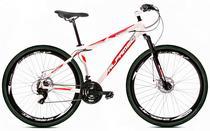 Bicicleta Alfameq Stroll Aro 29 Freio À Disco 24 Marchas Branca Com Vermelho -