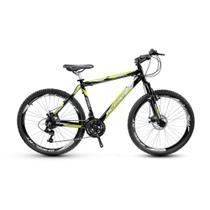 Bicicleta Alfameq Stroll Aro 29 Freio À Disco 24 Marchas Preta Com Verde -