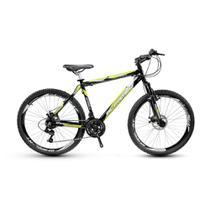 Bicicleta Alfameq Stroll Aro 29 Freio À Disco 27 Marchas Preta Com Verde -