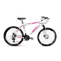 Bicicleta Alfameq Stroll Aro 29 Freio Hidráulico 21 Marchas Branca Com Rosa -