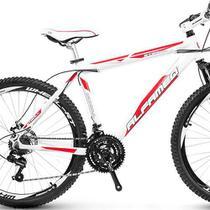 Bicicleta Alfameq Stroll Aro 29 Freio Hidráulico 21 Marchas Branca Com Vermelho -
