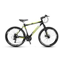 Bicicleta Alfameq Stroll Aro 29 Freio Hidráulico 21 Marchas Preta Com Verde -
