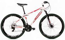 Bicicleta Alfameq Stroll Aro 29 Freio Hidráulico 24 Marchas Branca Com Vermelho -