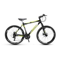 Bicicleta Alfameq Stroll Aro 29 Freio Hidráulico 24 Marchas Preta Com Verde -