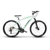 Bicicleta Alfameq Zahav Aro 29 Freio À Disco 21 Marchas Branca Com Verde -