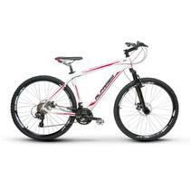 Bicicleta Alfameq Zahav Aro 29 Freio À Disco 24 Marchas Branco Com Vermelho -