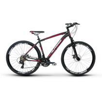 Bicicleta Alfameq Zahav Aro 29 Freio À Disco 24 Marchas Preta com Vermelha -