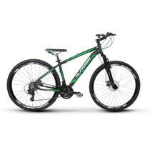 Bicicleta Alfameq Zahav Aro 29 Freio À Disco 24 Marchas Preto com Verde -