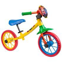 Bicicleta Aro 12 Balance Bike de Equilíbrio sem Pedal Meninos Zigbim Caloi -