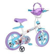 Bicicleta Aro 12 - Disney - Frozen 2 - Branco, Azul e Roxo - Bandeirante -