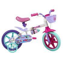 Bicicleta ARO 12 - Disney - Minnie Mouse - Branco - Caloi -