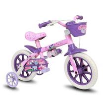 Bicicleta Aro 12 Gatinha Com Cestinha E Garrafinha - Nathor -
