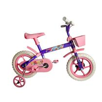 Bicicleta Aro 12 Infantil Feminina Samy Lillo Lilás Rosa -