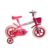 Bicicleta Aro 12 Infantil Feminina Samy Lillo Rosa Pink -