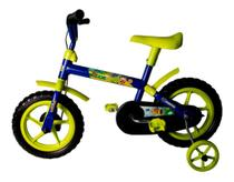 Bicicleta Aro 12 Infantil Masculina Samy Lillo Azul Verde -
