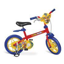 Bicicleta Aro 12 - Patrulha Canina - Vermelho, Azul e Amarelo - Bandeirante -