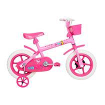 Bicicleta ARO 12 - Paty - Rosa e Fuscia - Verden Bikes -