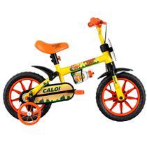 Bicicleta ARO 12 - Power Rex - Amarela - Caloi -