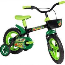 Bicicleta Aro 12 Styllkids Dino Styll Verde e Preta -