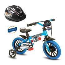 Bicicleta Aro 12 Veloz com Capacete Preto Nathor -