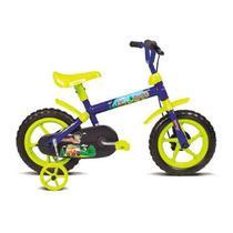 Bicicleta Aro 12 Verden Infantil Masculina Azul/Verde -