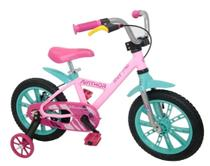 Bicicleta Aro 14 First Pro Rosa Feminina Alumínio - Nathor -