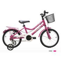 Bicicleta ARO 16 BLISS FEMININA C/ CESTÃO ROSA - Athor