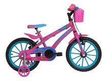 Bicicleta Aro 16 Feminina - Athor Baby Lux Angel Com Cesta -