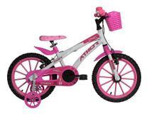 Bicicleta Aro 16 Feminina - Athor Baby Lux Princess C/ Cesta -