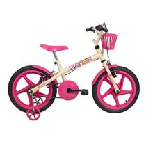 Bicicleta Aro 16 Fofys Bege Fucsia Verden -