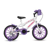 Bicicleta Aro 16 Infantil Feminina Next Branca com Cesta Mormaii -
