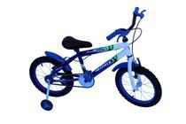 Bicicleta aro 16 masc onix com roda al e acessorios na cor azul -