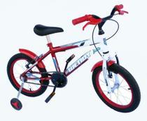Bicicleta aro 16 masc wendy com roda al e acessorios na cor verm -