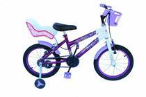 Bicicleta aro 16 onix cor viol com cadeirinha -