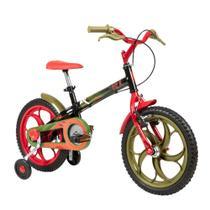 Bicicleta ARO 16 - Power Rex - Preta - Caloi -