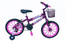 Bicicleta Aro 16 Violeta feminina Unicórnio - Metal Melo