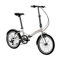 Bicicleta Aro 20 Bike Dobrável 6 Marchas Prata Rio Durban - Nautika