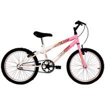 Bicicleta ARO 20 - Brave - Rosa e Branco - Verden Bikes -