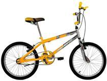 Bicicleta Aro 20 Cross Bmx Freestyles Masculina Cromada Com Amarelo - Dalannio Bike