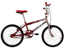 Bicicleta Aro 20 Cross Bmx Freestyles Masculina Cromada Com Vermelho - Dalannio Bike