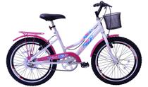 Bicicleta Aro 20 Feminina New Lady Aer Branco/Aces Pk C/Ct - Mega Bike