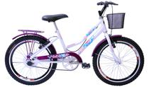 Bicicleta Aro 20 Feminina New Lady Aer Branco/Aces Vl C/Ct - Mega Bike